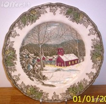 English STAFFORDSHIRE- Vintage Johnson Brothers Friendly Dinner Plate - $14.95