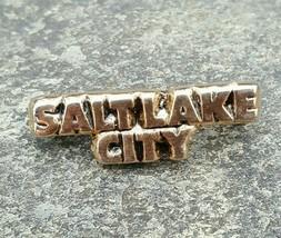 SALT LAKE CITY Colorado Goldtone Travel Souvenir Collector Hat Pin-Back ... - $11.99