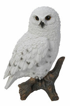 """Pacific Giftware 6.7"""" Tall Realist Look Snow Owl Standing Resin Figurine... - $23.75"""