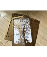 50pcs Tree Wedding Invitation,Brown Wedding Invitaton Card,Laser Cut Invite - $53.80