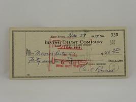 1959 Carl Reiner Actor/Comedian Signed Check 12/27/1959 Irving Trust Com... - $44.50
