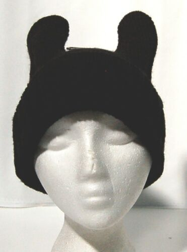 Pop Head Wear Rabbit Ear Beanie One Size Color Black 100 Percent Polyester