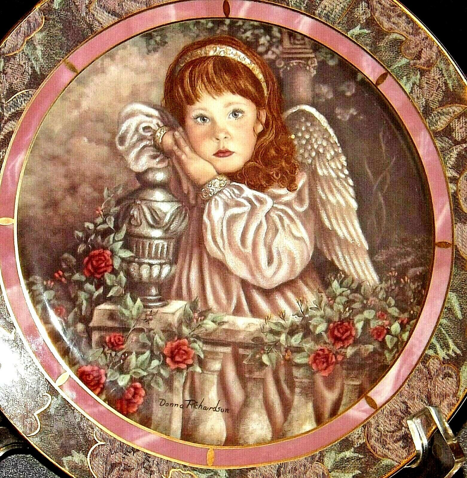 """""""Hope"""" Commemorative Plate by Donna Richardson AA20-CP2312 Vintage Gardens of In"""