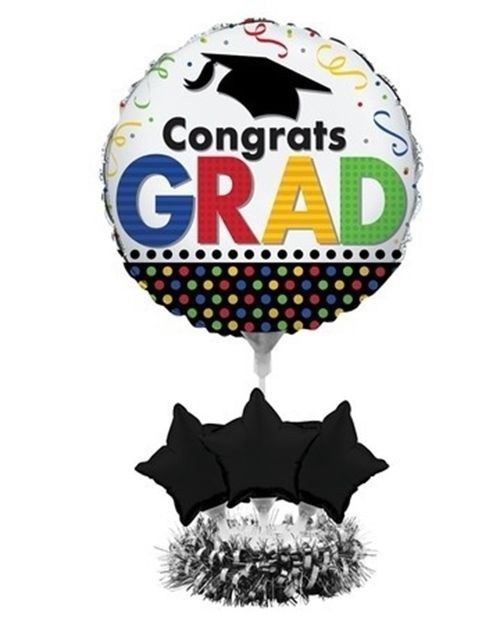 Centerpiece Balloon Kit Grad Graduation Balloons 24 x 18 No Helium needed