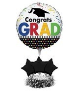 Centerpiece Balloon Kit Grad Graduation Balloons 24 x 18 No Helium needed - £10.82 GBP