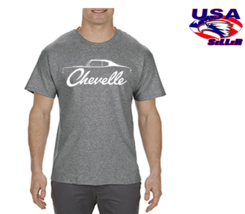 70-72 Chevelle Graphite Heather T-Shirt Small to 3XL Classic Sports Car ... - $14.99+