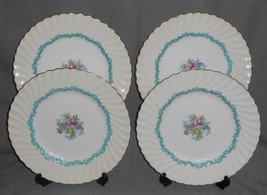 Set (4) Minton Ardmore Pattern Dinner Plates Made In England - $69.29
