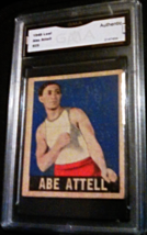 1948 Leaf Boxing Abe Attell GMA Graded Authentic Boxing Card 25 - $19.99