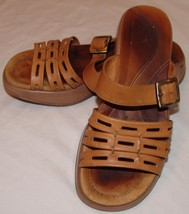 Dansko Womens Brown Leather Slides 40 Nurse Uniform 9.5 10 Sandals - $26.27