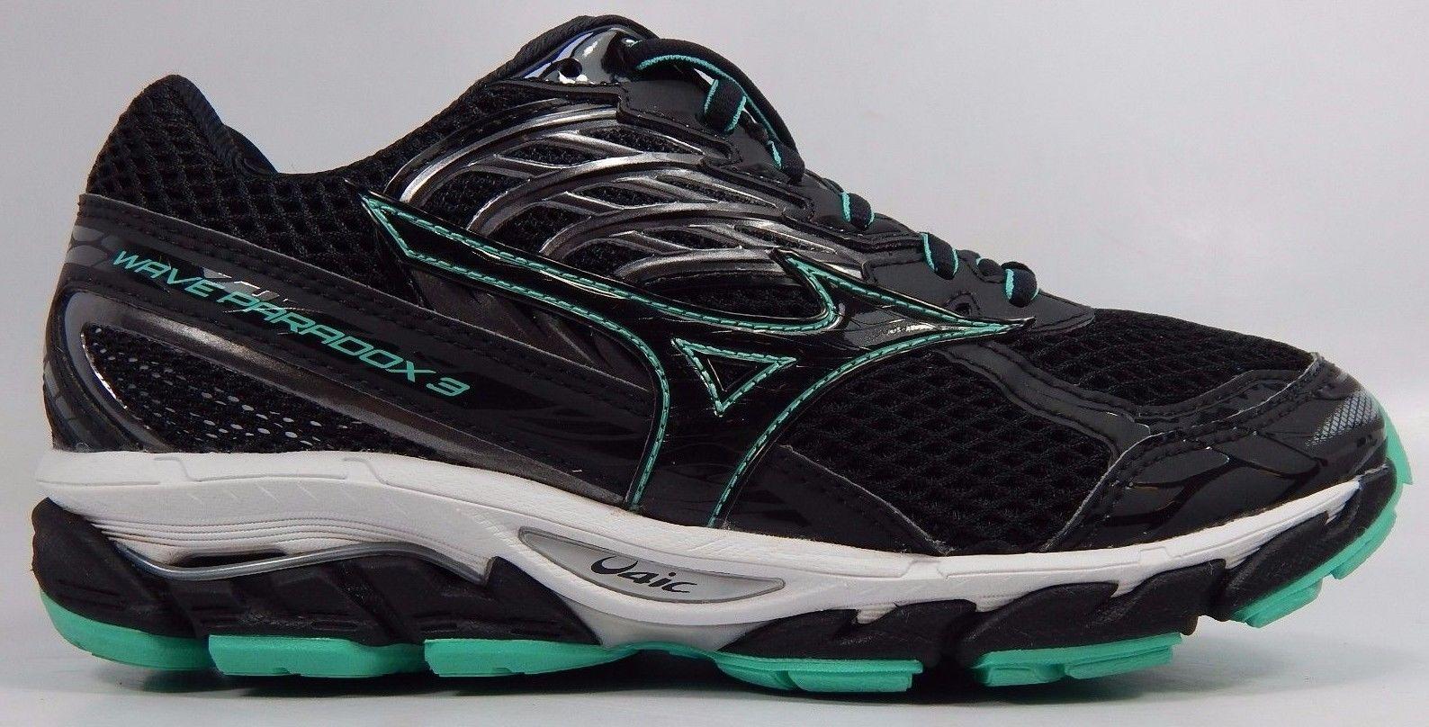 Mizuno Wave Paradox 3 Women's Running Shoes Size US 8 M (B) EU 38.5 Black Green