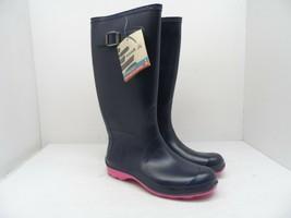 Kamik Women's Olivia Rain Boot Navy/Pink Size 7M - $52.24