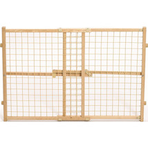 Midwest Homes For Pets Natural Wood/wire Mesh Pet Gate 24h X 29-41.5 027... - $45.23