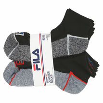 FILA Men's 6 Pack Classic Sport Athletic Gym Moisture Control Absorb Dry Socks image 13