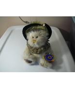 "Teddy Bear Pickford Brass Button Bears 'Eliza' Genuine Emerald Pendant 10"" - $4.95"