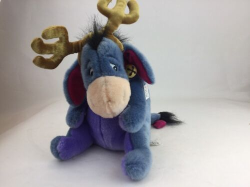"Disney Store Exclusive Winnie Pooh Eeyore Donkey 13"" Christmas Reindeer Plush image 4"