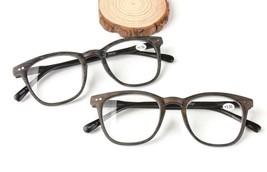 Reading Glasses Wooden Imitation Frame Readers Wood Men Clear Lens Spect... - $12.01