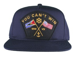 Motivation You Cant Win Naval Navy Blue Snapback Baseball Hat Cap NWT