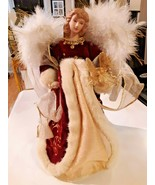 """Vintage 12""""  Porcelain Doll Small Christmas Tree Topper Angel - $19.79"""