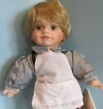 "Fine porcelain 8"" camelot ""TRINDEL""  pierrot/clown doll w/box ELF SHOE M... - $29.70"