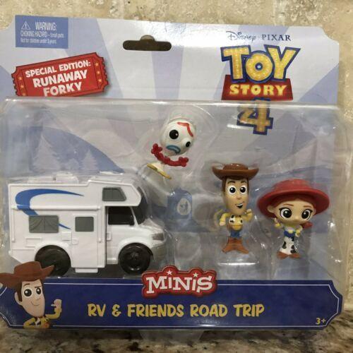 Disney Toy Story 4 Movie MINIS RV & Friends Road Trip Runaway Forky Woody Jessie