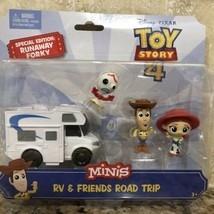 Disney Toy Story 4 Movie MINIS RV & Friends Road Trip Runaway Forky Wood... - $22.76