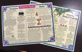 Magical Spells Laminated Chart, 8.5 x 11 Inches! - $7.95