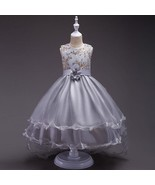 Silver Gray Flower Girls dress Evening Party Pageant Dress for Girls in ... - £45.81 GBP+