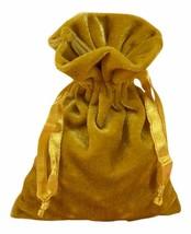 Gold Velvet Tarot Bag 6 x 9 by Paper Mart - $5.92