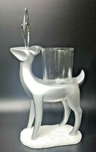 Yankee Candle Silver Deer Reindeer Candle Holder Christmas Decor New In ... - $29.99