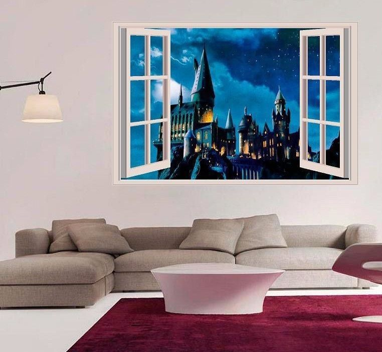 harry potter hogwarts castle 3d window wall and 50 similar items