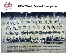 MLB 1962 New York Yankees World Series Champions Team Picture 8 X 10 Photo Pic - $5.99