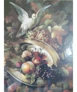 "Homco Home Interiors Dove Fruit Picture 24"" X 24"" - $134.99"