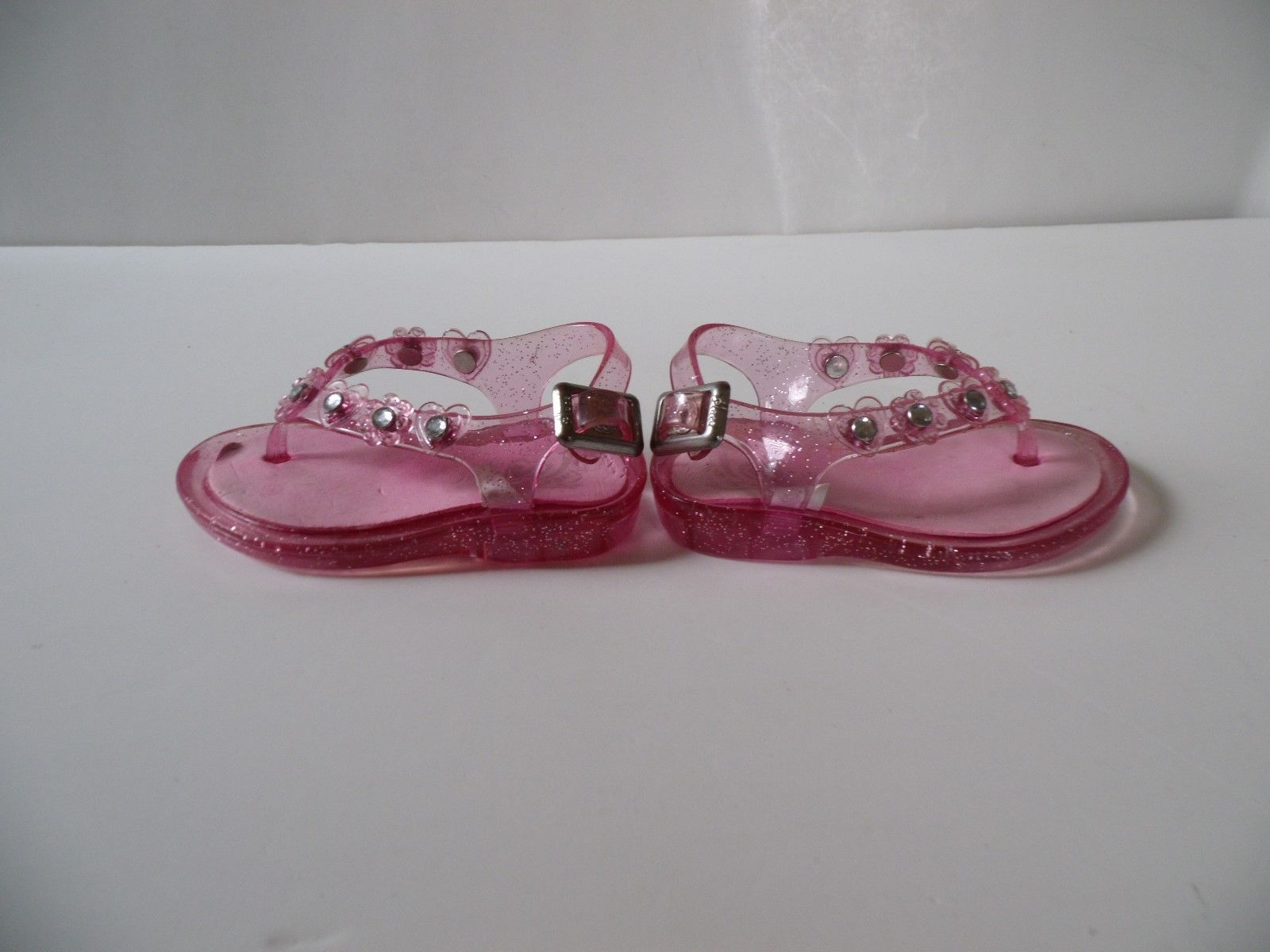 Jelly Sandals & Moccasins  Size 4 Jelly Sparkle Rhinestones Cushioned Lot of 2