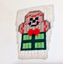 Handmade Needlepoint Plastic Canvas Holiday Gingerbread Man Pocket Buddy - £2.02 GBP