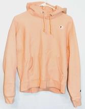Champion Reverse Weave Women's Peach Salmon Hooded Hoodie Sweatshirt Size Large
