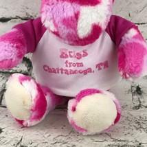 Camo Cuties Moose Plush Pink Sitting Hugs From Chattanooga Baseball Shirt Soft - $9.89