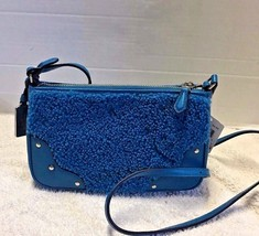 COACH Small Rhyder Pochette in Shearling Peacock 36490 NWT - $59.99
