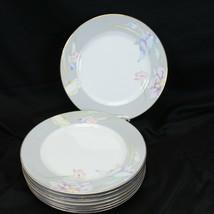 "Mikasa Charisma Gray Dinner Plates 10.625"" Lot of 8 - $48.99"