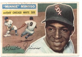 1956 Topps #125 Minnie Minoso White Sox UER (Gray Back) EX Excellent  - $25.00