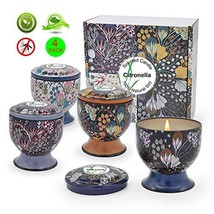iwax Citronella Scented Candles Outdoor Indoor 4 Gift Set 4oz Natural So... - $15.61