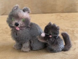 Kirsten REAL FUR Mama Cat & kittens Pleasant Co Germany American Girl Do... - $94.50
