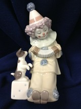 "lladro figurine ""CLOWN WITH CONCERTINA AND PUPPPY"" #5279 - $68.00"