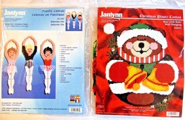Janlynn Plastic Canvas Lot Ballerina Trio & Bear With Bells - $27.67