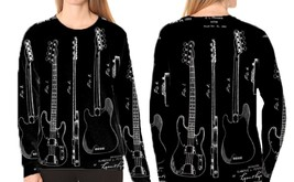 PRECISION BASS GUITAR PATENT   Women Sweatshirt - $30.99+