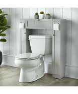 Gray Finish Over Toilet Space Saver Paper Caddy Bathroom Storage Cabinet... - $143.45