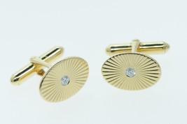 Vintage (1950's) 14K Yellow Gold Diamond Cuff Links - $785.00