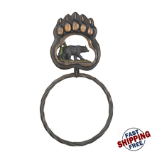 Black Bear Paw Towel Ring  - $26.12