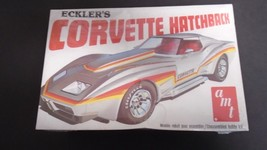 AMT CHEVY ECKLERS CORVETTE WIDEBODY ©1977 ISSUE PLASTIC MODEL CAR KIT SE... - $29.99