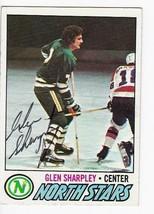 GLEN SHARPLEY AUTOGRAPHED CARD 1977-78 TOPPS MINNESOTA NORTH STARS - $3.58