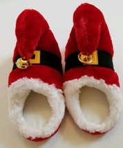 Santa Elf Plush Slippers with Bells by Dan Dee Adult Size Small Med Chri... - $4.37